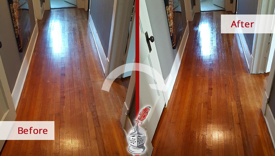 From Dull To Shiny A Sandless Wood Refinishing In Dallas