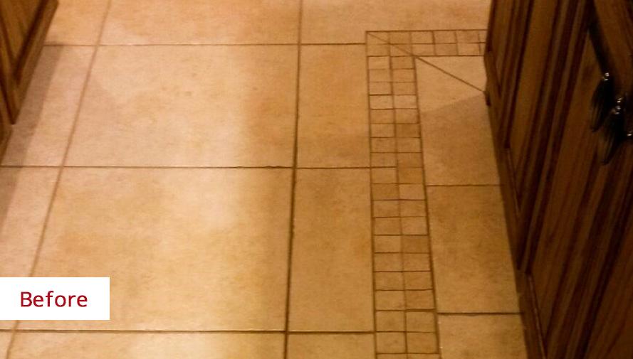 Recolor ceramic tile